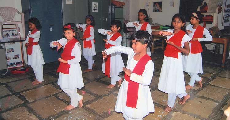 Kathak dance training