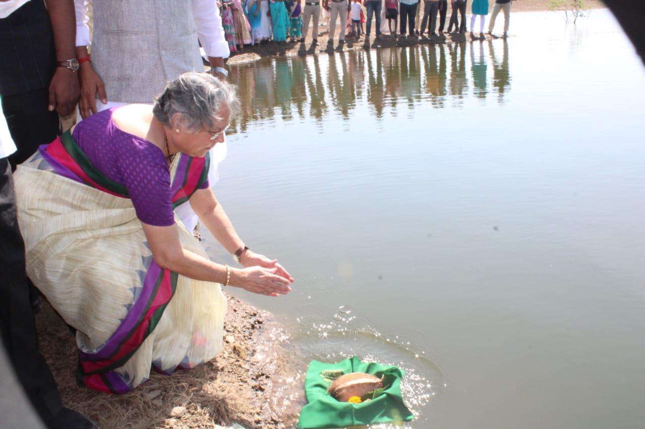 worshiping water